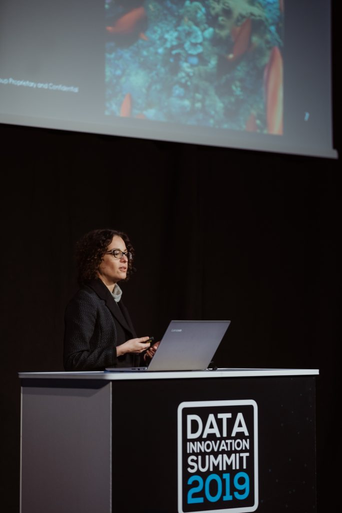 Francisca Zanoguera presenting at Data Innovation Summit 2019