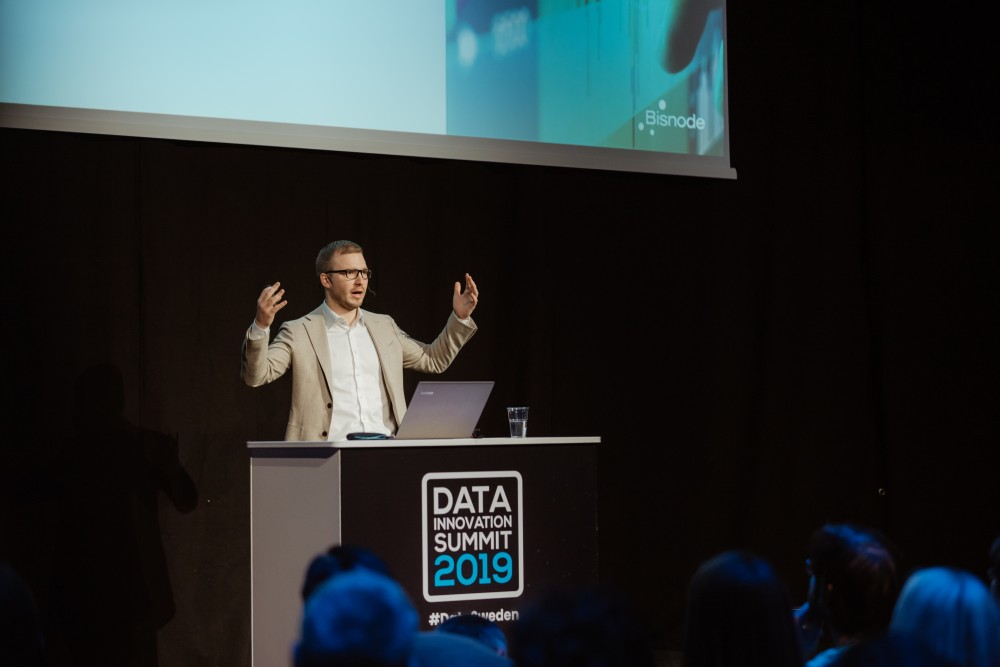 Pierre Deville presenting at the Data Innovation Summit 2019