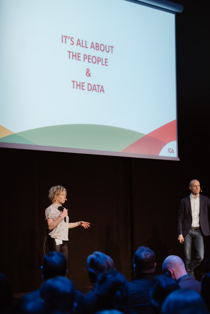 Carolina Steinmetz Singer, Head of Analytics and Daniel Ågren, Director Data & Analytics Technology at ICA Gruppen