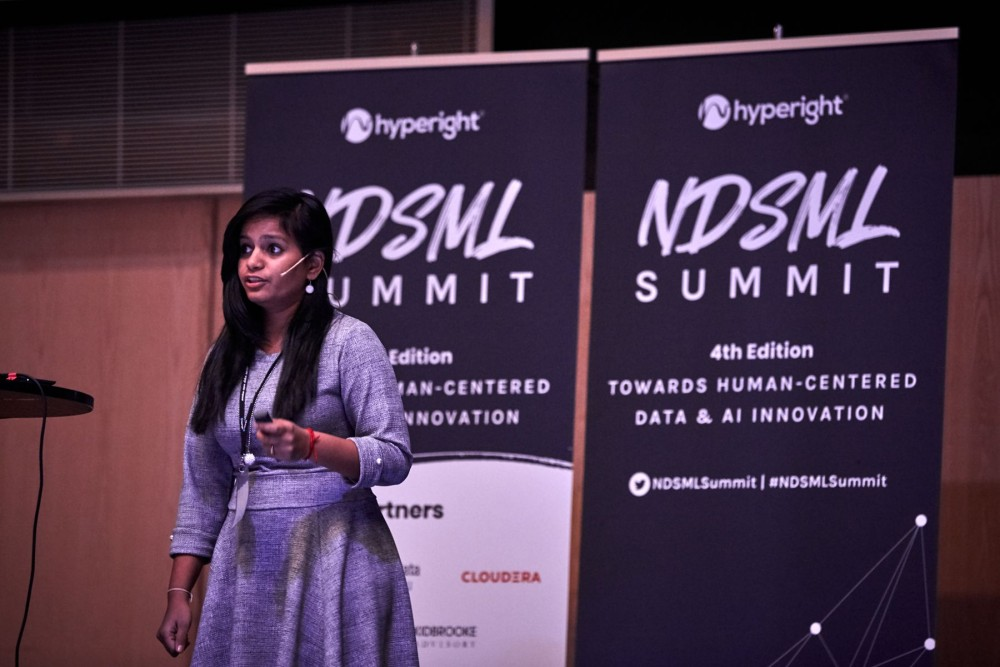 Deepa Krishnamurthy, Data Scientist at Klarna presenting at NDSML Summit 2019
