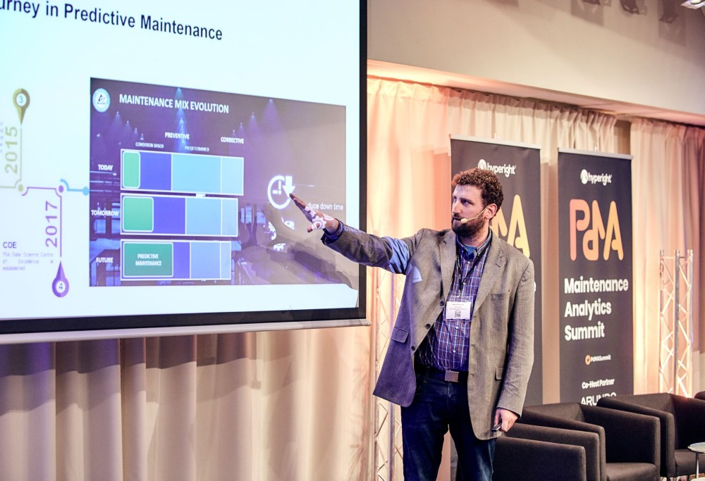 Noah Schellenberg presenting at the Maintenance Analytics Summit 2019