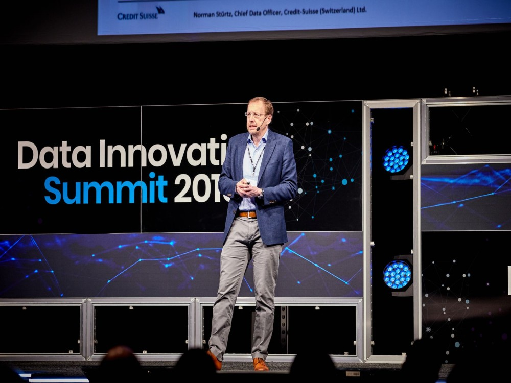 Norman Stürtz, a CDO at Credit Suisse AG presenting at the Data Innovation Summit