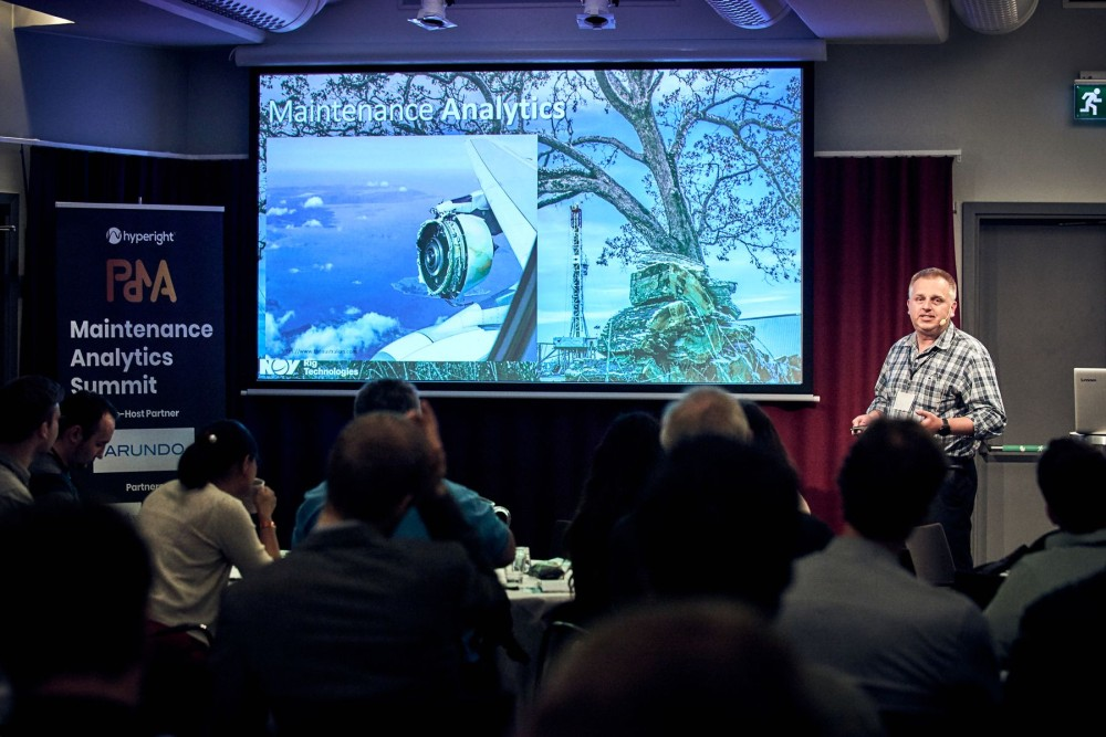 Julian Zec, former Chief Engineer & Manager Maintenance & Reliability Engineering at National Oilwell Varco, currently Global Manager Drilling Performance & Maintenance Optimization at Cameron, presenting at Maintenance Analytics Summit 2019