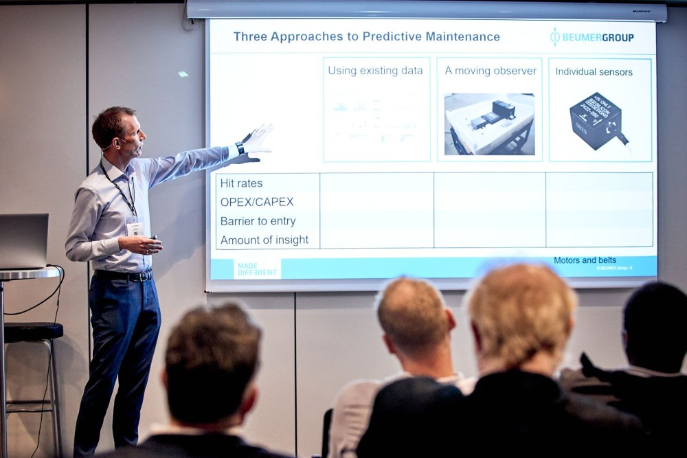 Lasse Vilhelmsen, former Data Scientist at Beumer Group presenting at the Maintenance Analytics Summit 2019