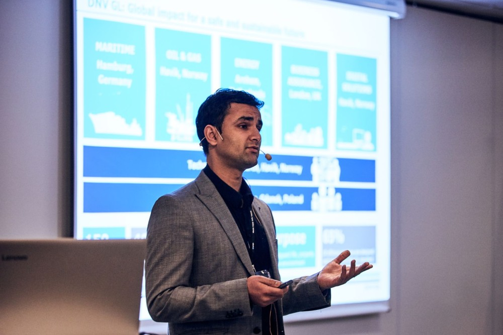Arvind Keprate, Senior Engineer at DNV GL presenting at the Maintenance Analytics Summit 2019