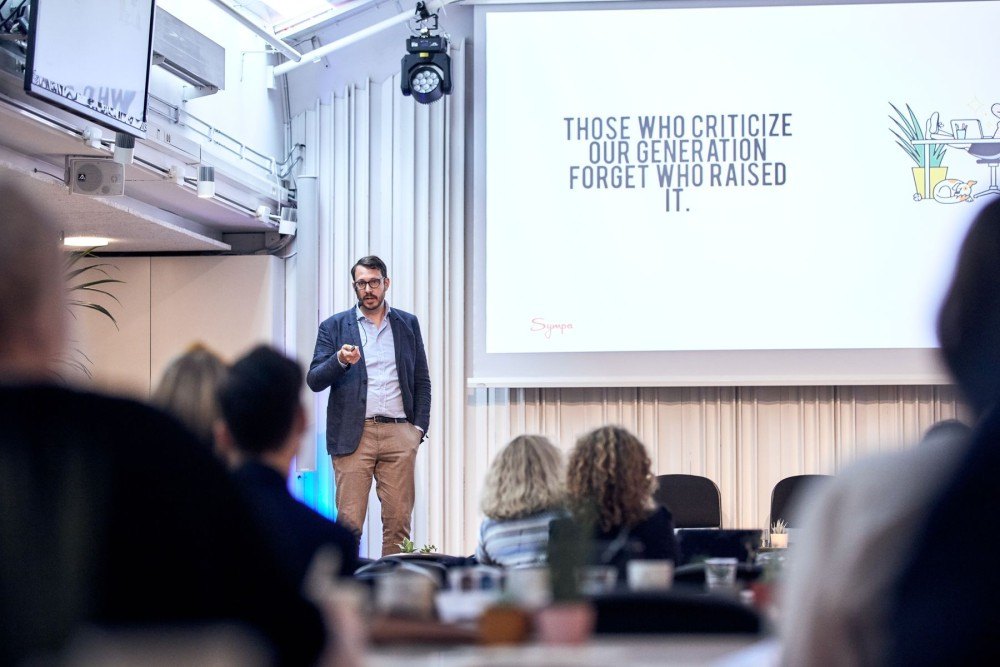 Björn Lorentzon, Business Development Manager at Sympa, presenting at the Nordic People Analytics Summit 2019