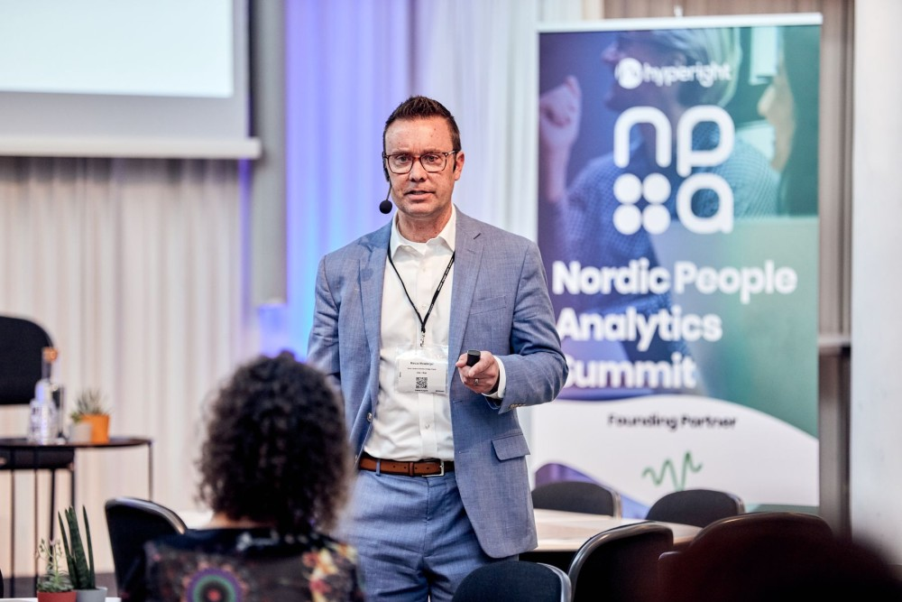 Marcus Mossberger,  Senior Director, Industry and Solution Strategy at Infor presenting at the Nordic People Analytics Summit 2019