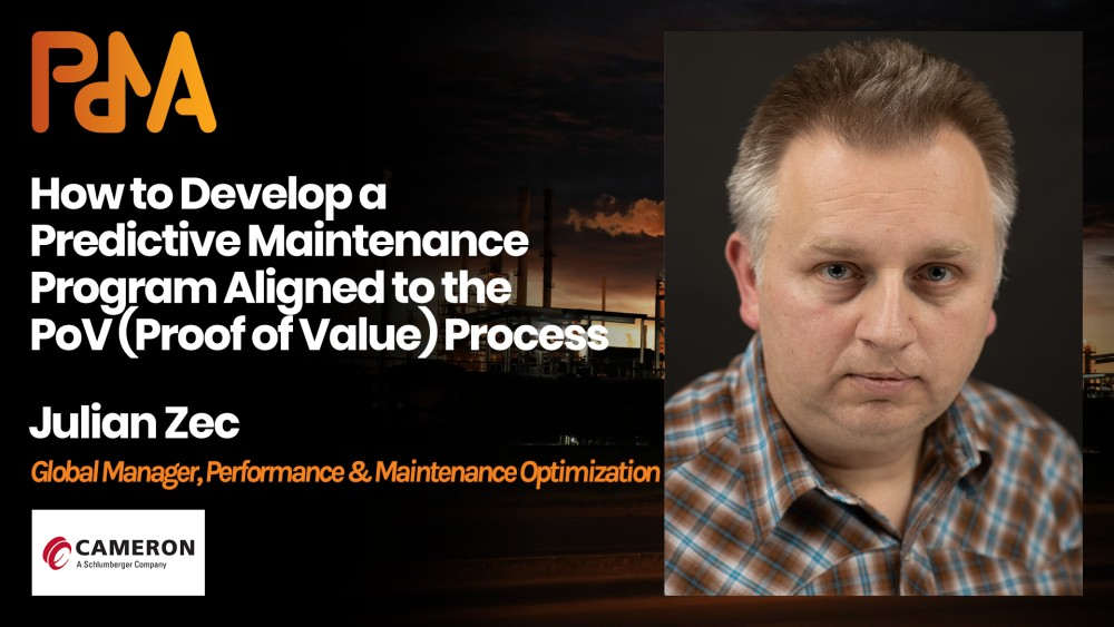 Julian Zec, Global Manager Performance & Maintenance Optimisation at Cameron