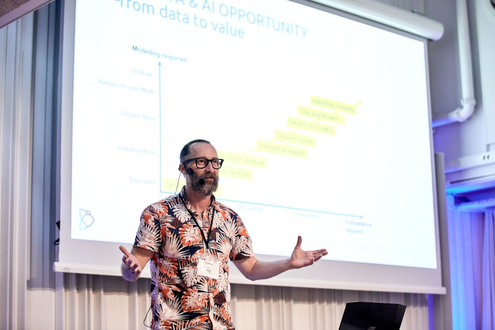 Henrik Göthberg, Founder and CEO of DAIRDUX presenting at the Nordic People Analytics Summit