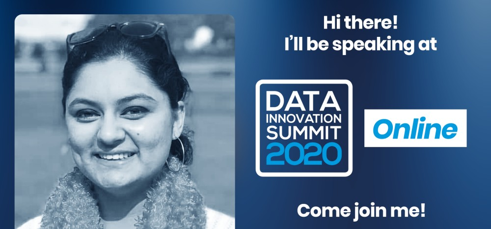 Jigyasa Grover speaking at the Data Innovation Summit, Join the Tech Giants at the DIS 2020: Facebook, Google, LinkedIn, Twitter