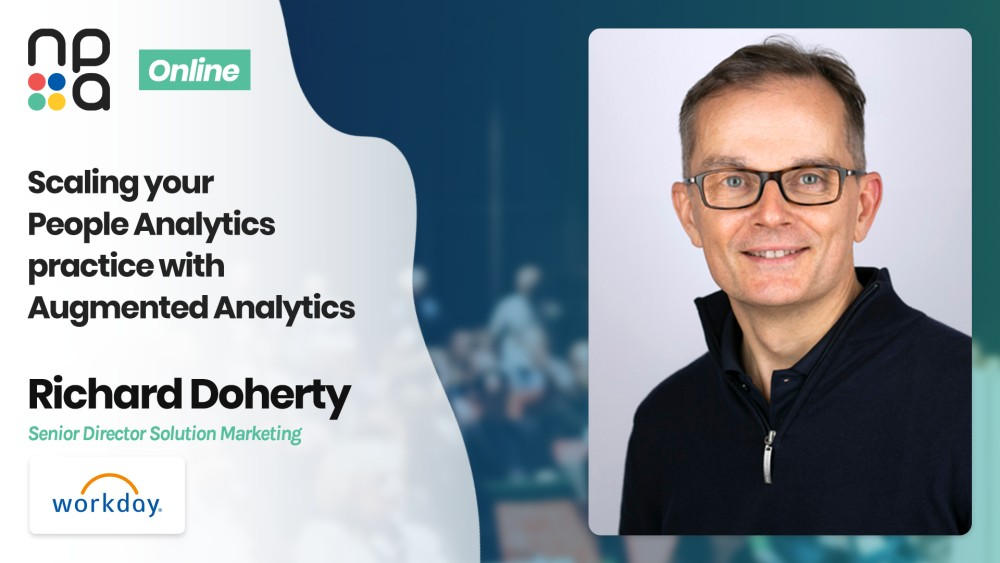 Richard Doherty, Senior Director Solution Marketing at Workday speaking at the Nordic People Analytics Summit 2020