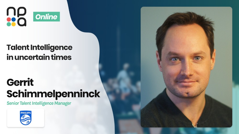 Gerrit Schimmelpenninck, Senior Talent Intelligence Manager at Philips speaking at the Nordic People Analytics Summit 2020