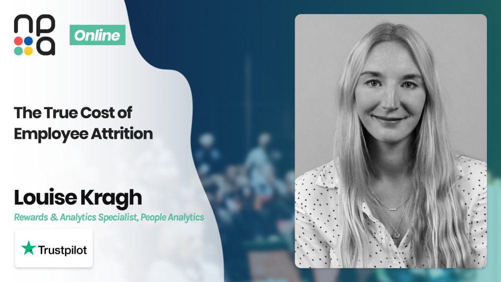 Louise Kragh, Rewards & Analytics Specialist, People Analytics at Trustpilot speaking at the Nordic People Analytics Summit 2020