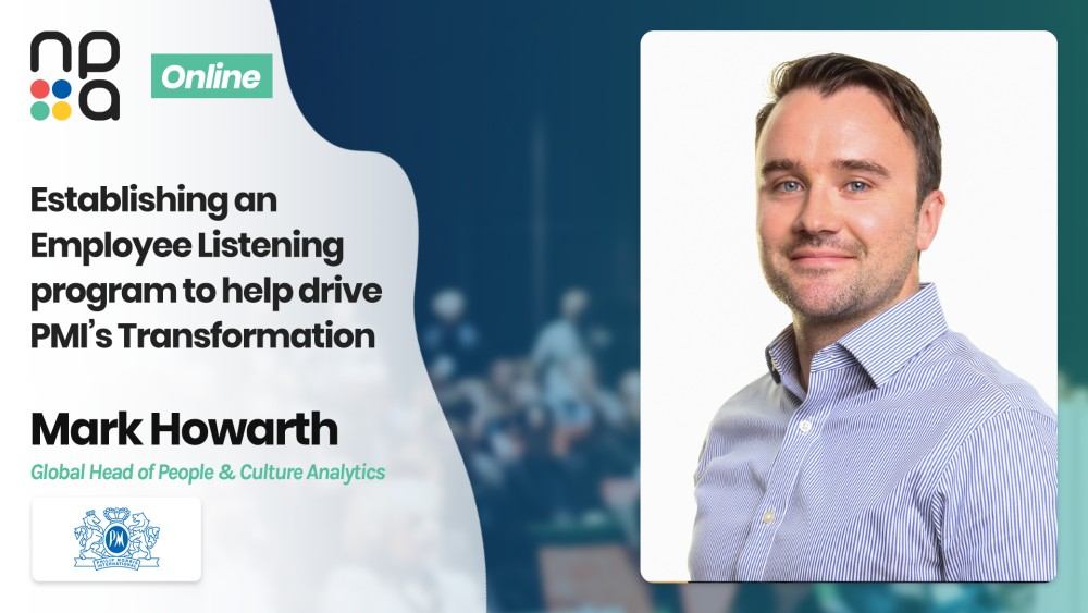 Mark Howarth, Global Head of People & Culture Analytics at Philip Morris International