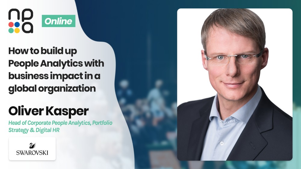 Oliver Kasper, Head of Corporate People Analytics, Portfolio Strategy & Digital HR at Daniel Swarovski Corporation