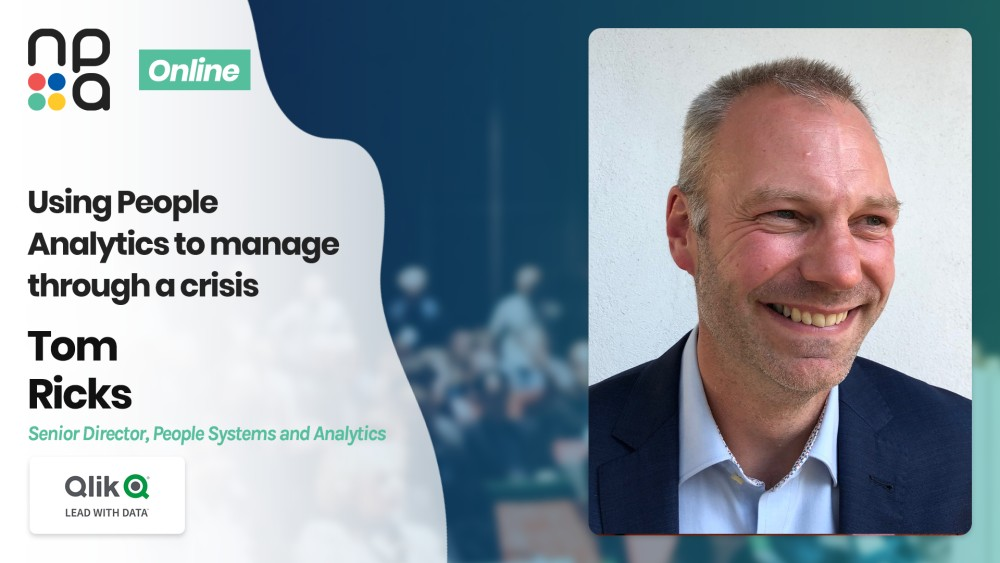 Tom Ricks, Senior Director, People Systems and Analytics at Qlik speaking at the Nordic People Analytics Summit 2020
