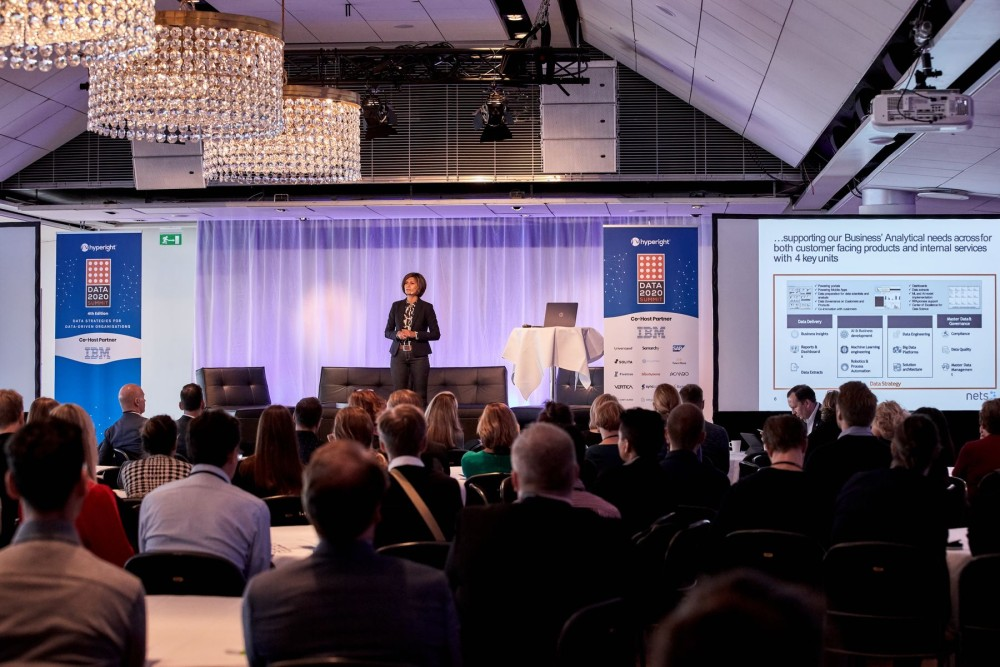 Vanessa Eriksson, previous SVP, Chief of Staff to the Group CIO, and current SVP, Chief Digital Officer at Zenseact presenting at the Data 2020 Summit