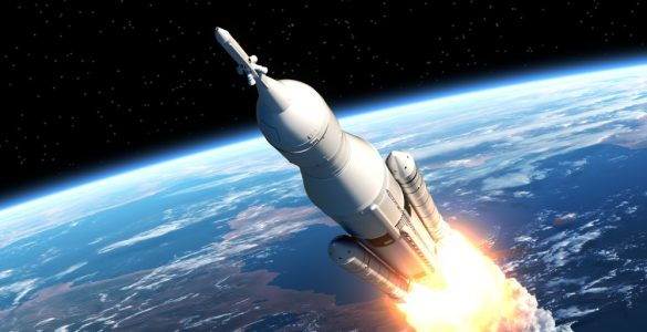 NASA Space Launch System Takes Off.