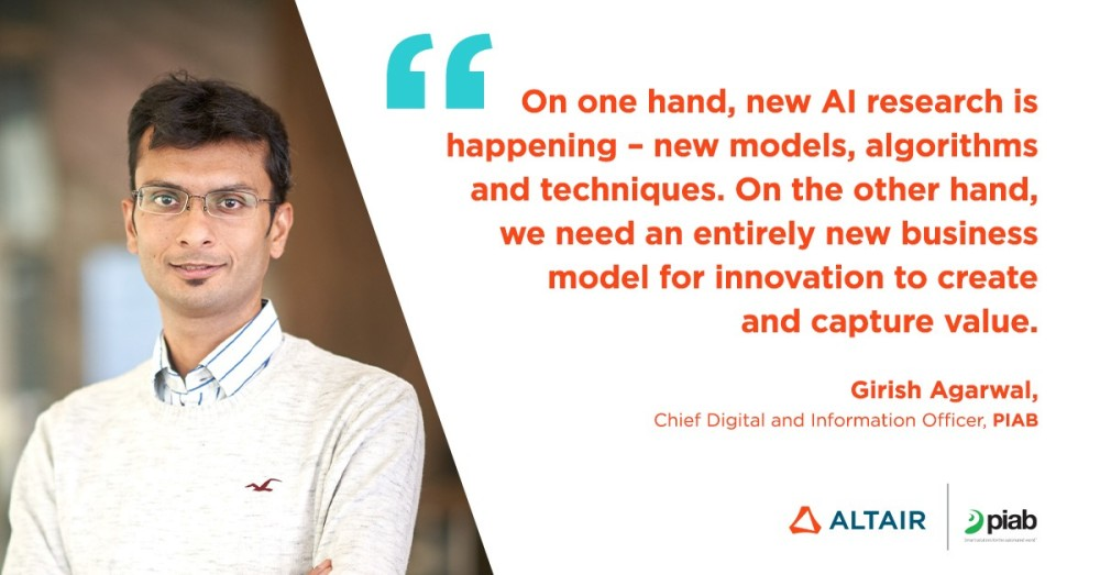 Girish Agarwal, ex-Director of the AI Lab at Husqvarna and current Chief Information and Digital Officer at Piab