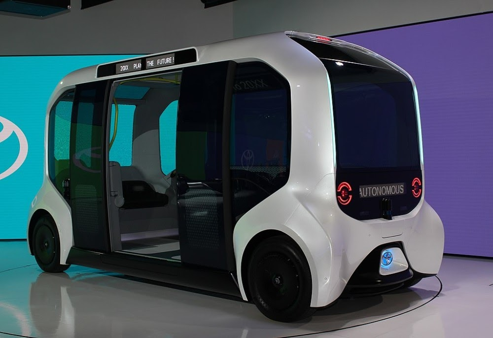 Toyota's e-Palette autonomous shuttle at the Tokyo 2020 Olympics