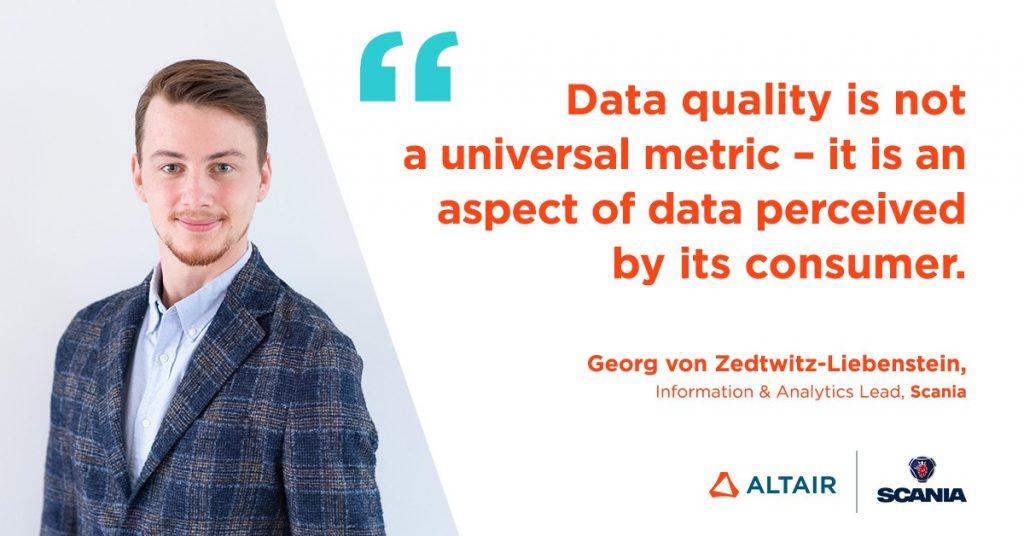 Georg von Zedtwitz-Liebenstein is the Information & Analytics Lead at Scania Financial Services